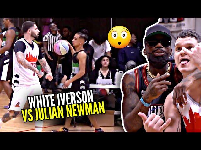 White Iverson 58 POINTS vs Julian Newman & BDOT!! Ball Dawgs Celebrtiy Game Was CRAZY!!