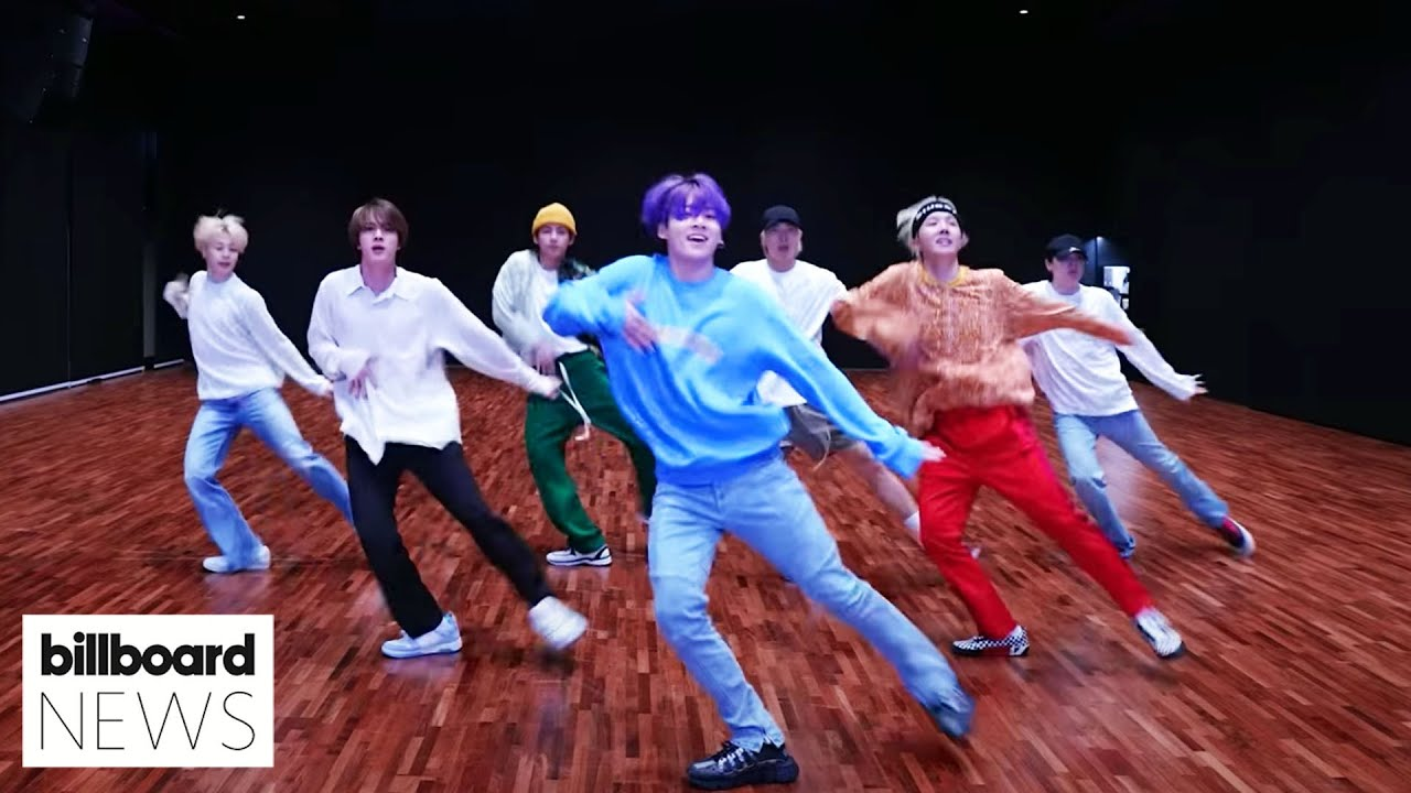 BTS Nails Choreography In 'Butter' Dance Practice Video | Billboard News