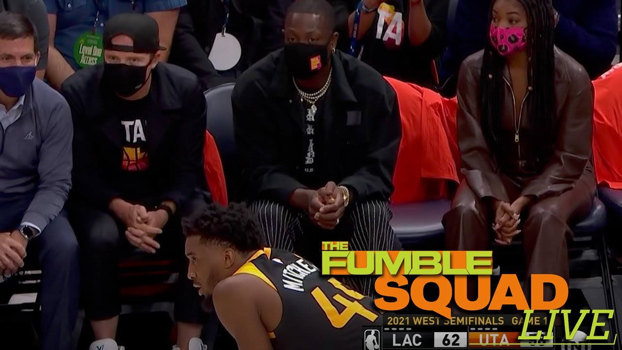 D Wade Caught COACHING Donovan Mitchell From Courtside Of Game 1 v Clippers