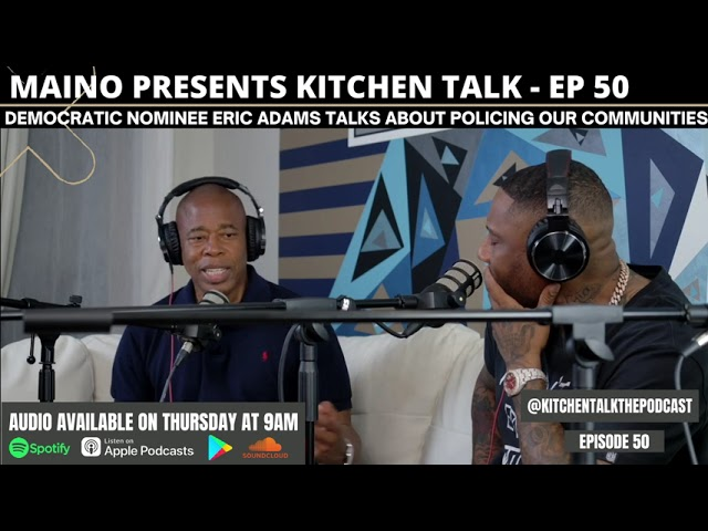 Eric Adams in the Kitchen with Maino and Hala to discuss his current Democratic Nomination (Snippet)