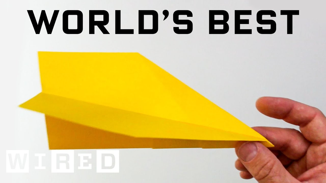 How to Make a WORLD RECORD Paper Airplane That Flies Far - World's Best Paper Airplane   WIRED