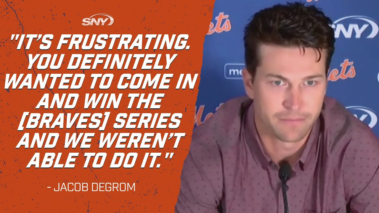 Jacob deGrom frustrated Mets couldn't win Braves series   Mets Post Game   SNY