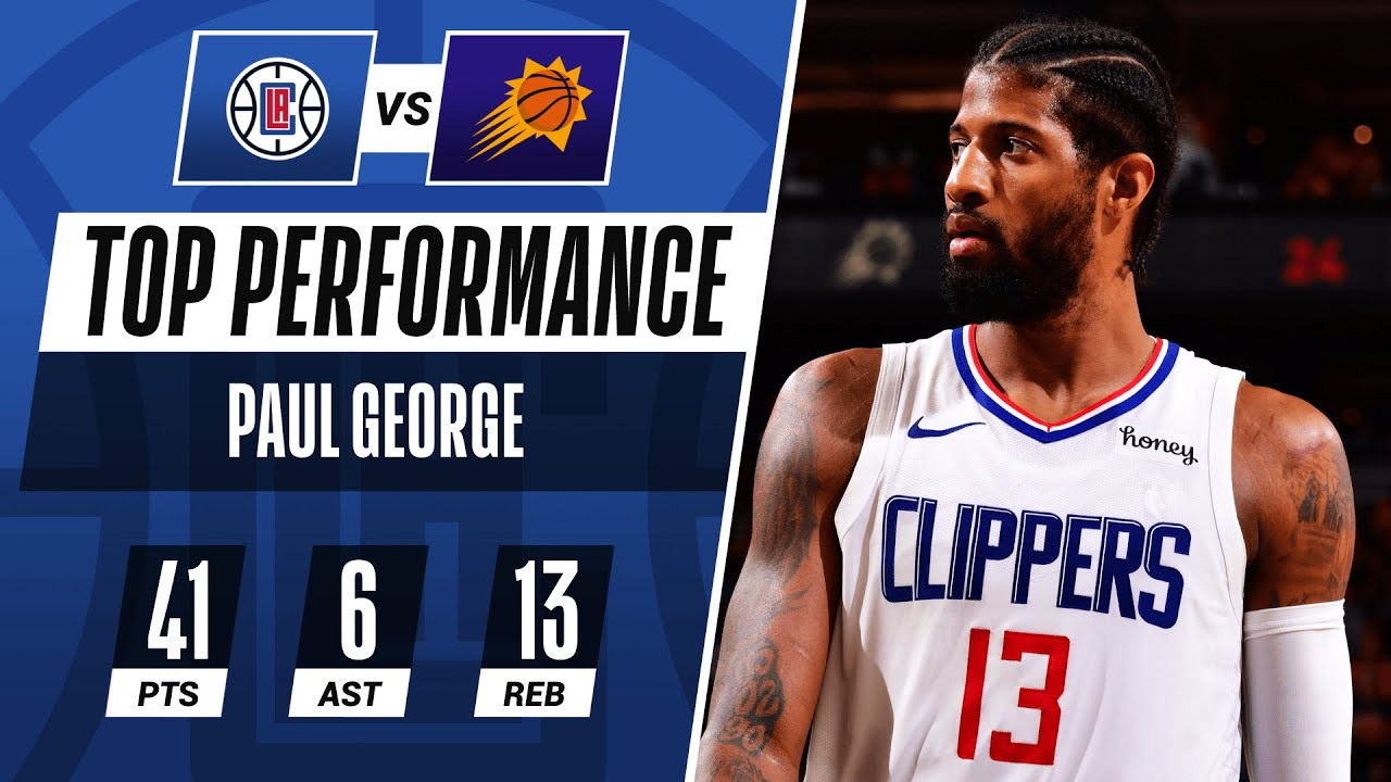 Paul George ERUPTS for 41 PTS Setting CLIPPERS RECORD in Game 5 W! ☄️