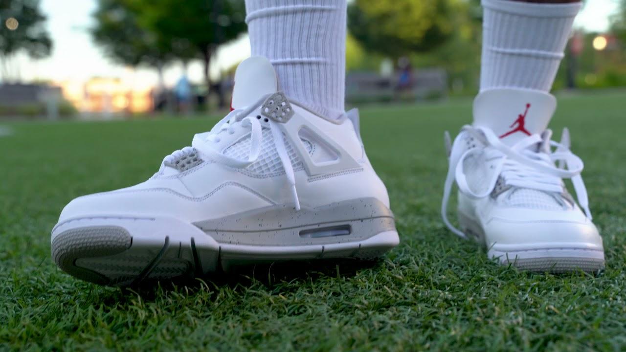 """Pt.2 Jordan 4 """"White Oreo""""/""""Tech White"""" On Foot !"""