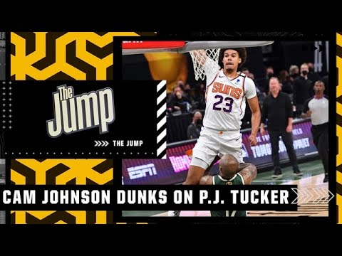 The Jump reacts to Cam Johnson's ridiculous poster on P.J. Tucker in the Finals: ''WOW!' | The Jump