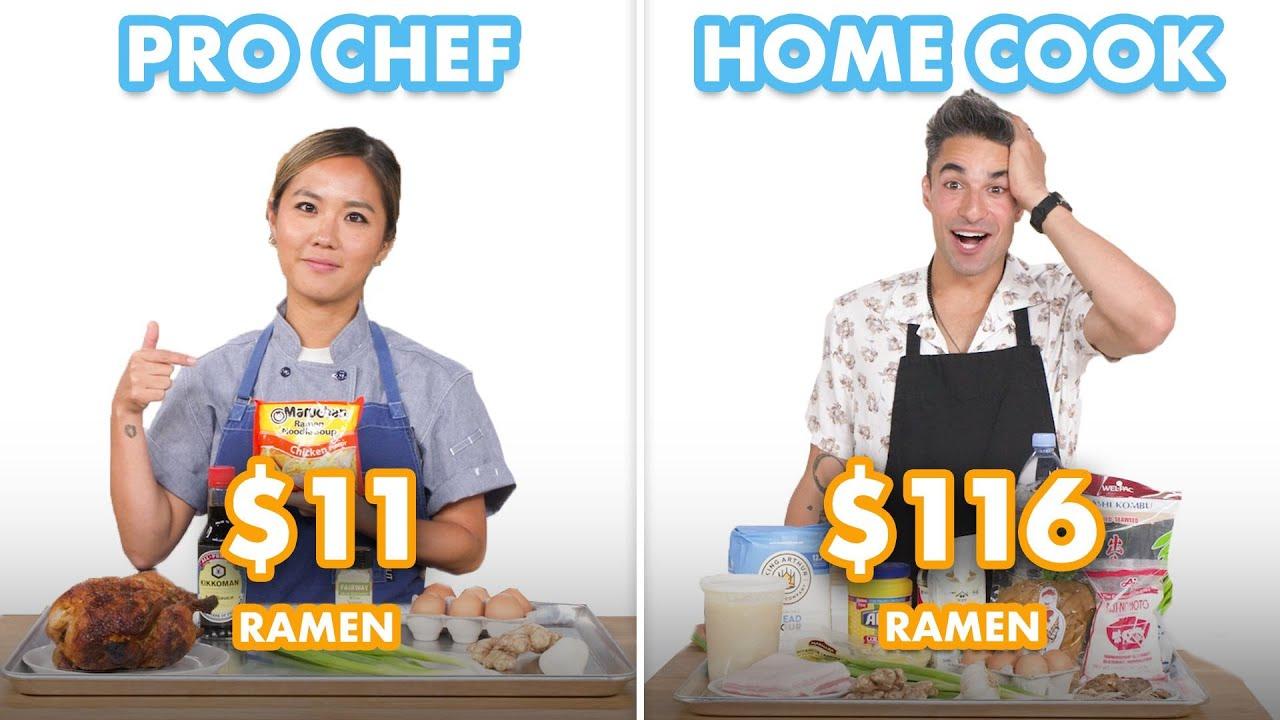 $116 vs $11 Ramen: Pro Chef & Home Cook Swap Ingredients   Epicurious