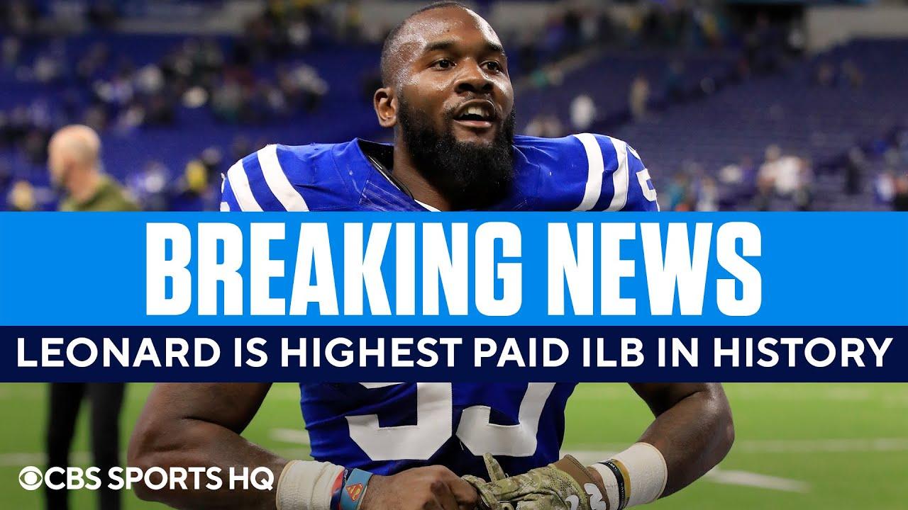 Darius Leonard Becomes the Highest Paid ILB in NFL History | CBS Sports HQ