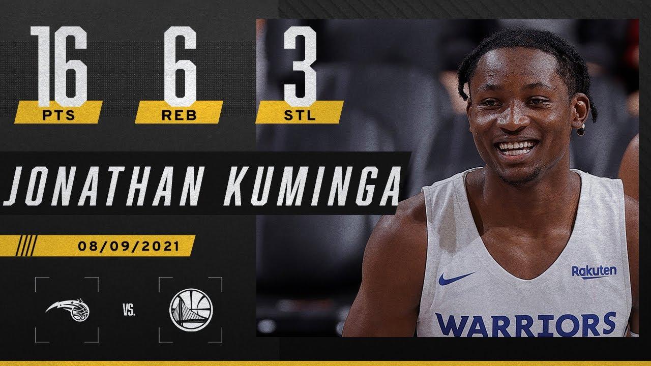 Jonathan Kuminga puts up 16 PTS, 6 REB & 3 STL for the Warriors 👀