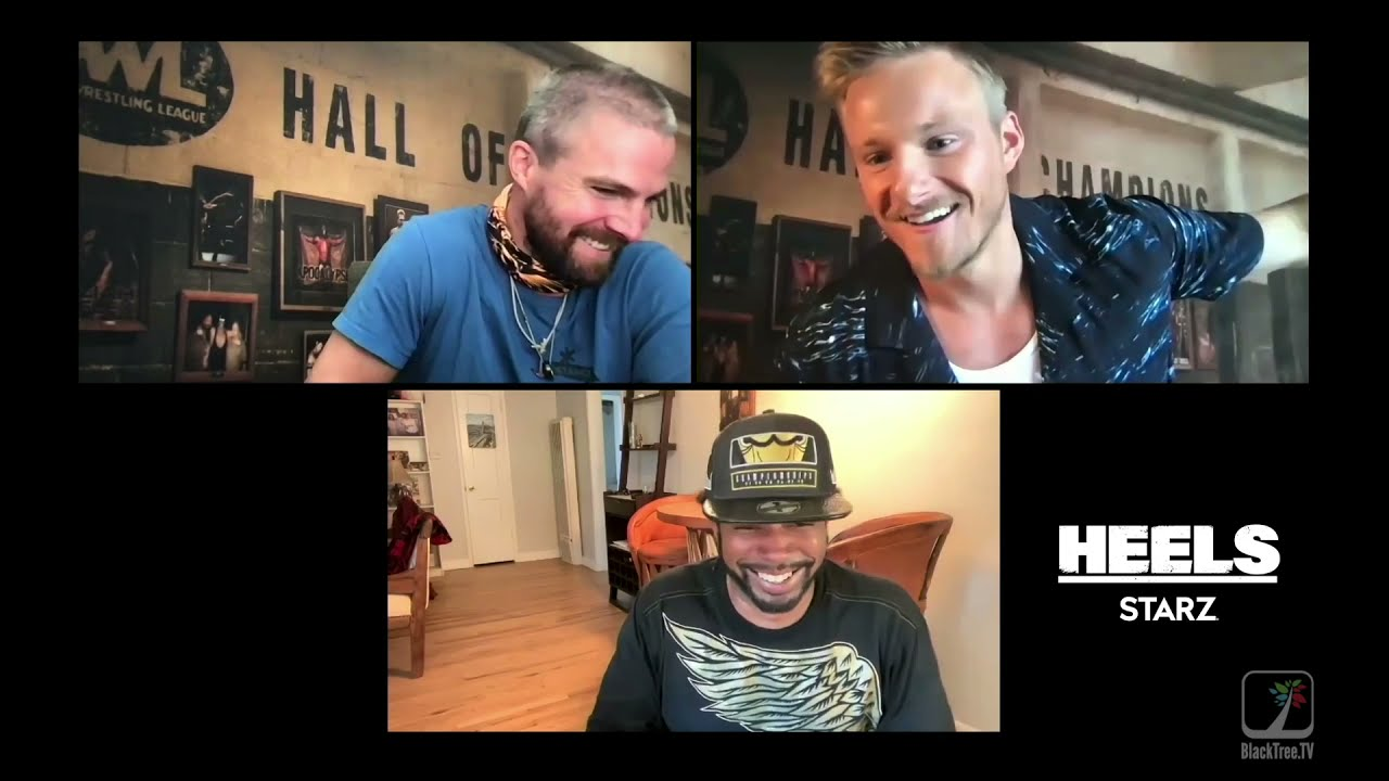 This HEELS Interview turns hilarious w Stephen Amell and Alexander Ludwig