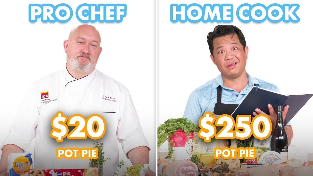 $250 vs $20 Pot Pie: Pro Chef & Home Cook Swap Ingredients | Epicurious