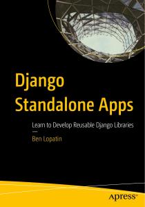 Django Standalone Apps: Learn to Develop Reusable Django Libraries