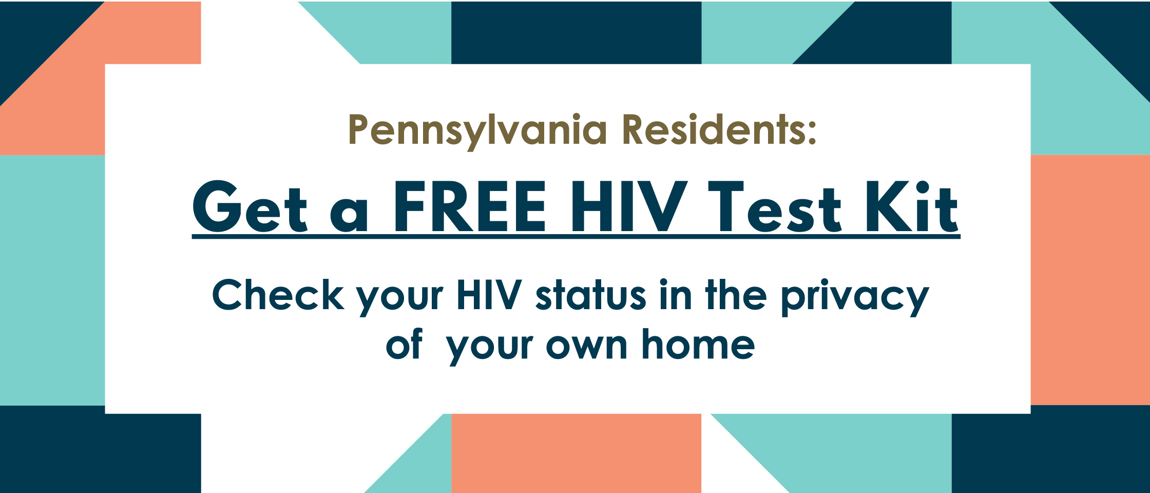 text saying get a free H I V test kit