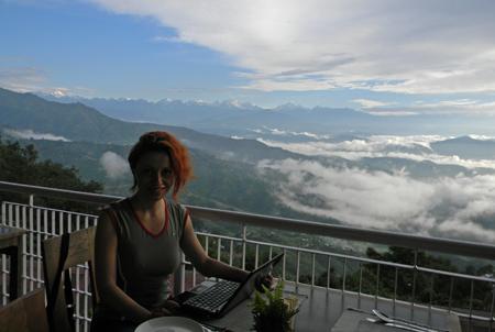 Himalaya vazuta din Dhulikhel