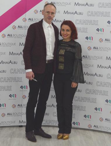 cu Mihai Albu la eveniment Artful Fashion by Allboutique