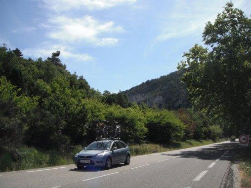 Driving to the summitt