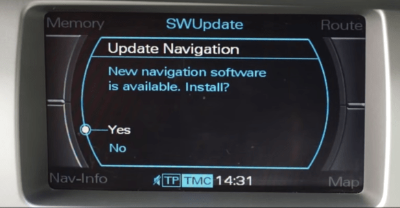 Audi A4 MMI 2G Navigation DVD Eastern Europe install