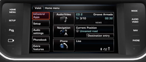 Range Rover Navigation DVD Europe 2018 screen