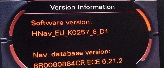 Audi A8 MMI 2G Navigation DVD