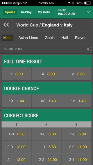 Double Chance bet