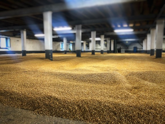 The malting floors at Laphroaig