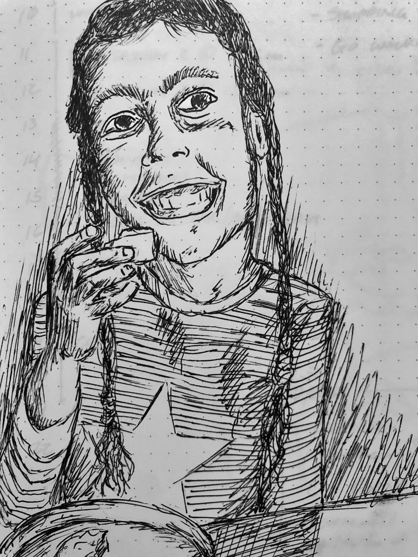 Drawing of Vivian