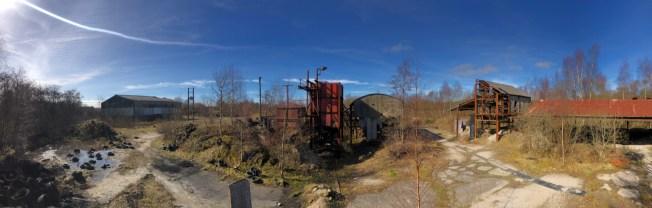 Panoramic of the Drumcavel Quarry site.