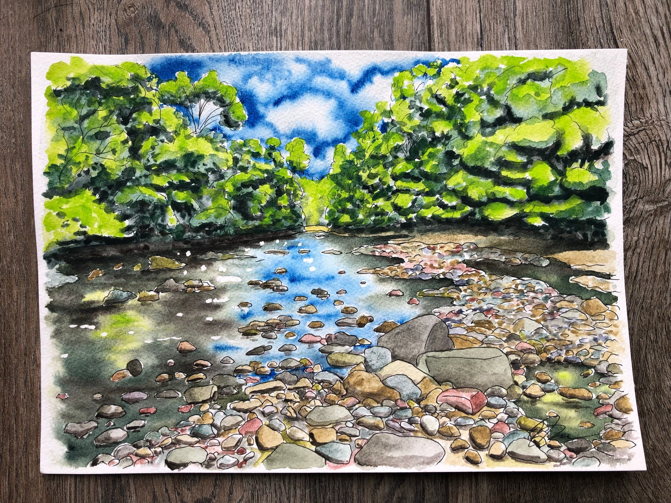 Watercolor painting of Chatelherault Country Park.