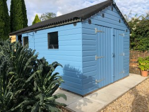 Garden shed recently re-painted.