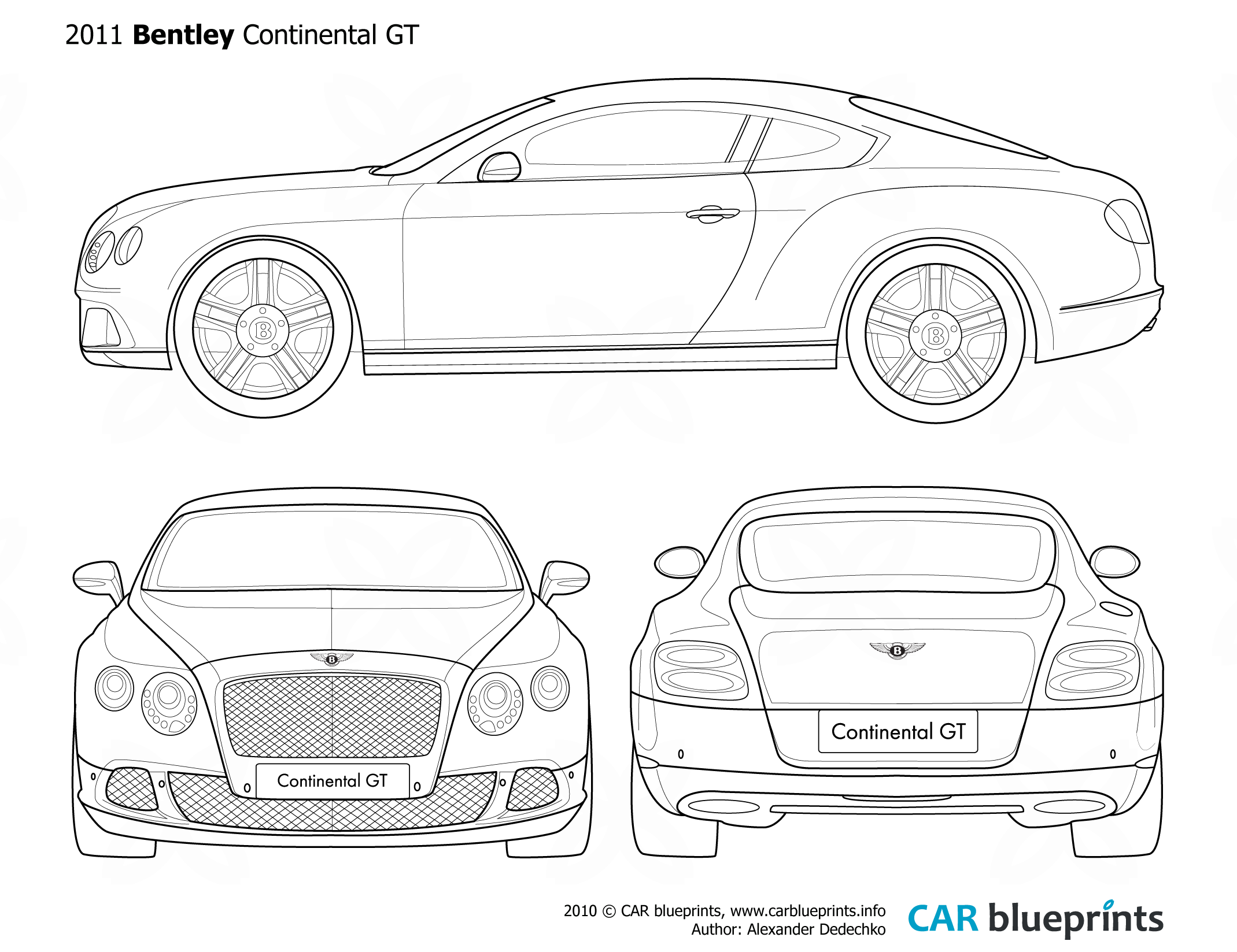Bentley Continental Gt Coupe Blueprints Free