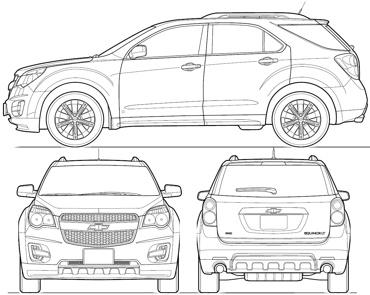 Chevrolet Equinox Suv Blueprints Free