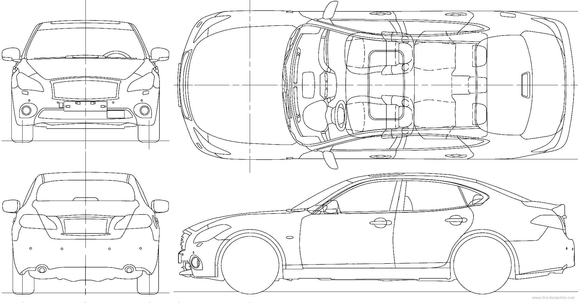 Infiniti M45 Sedan Blueprints Free