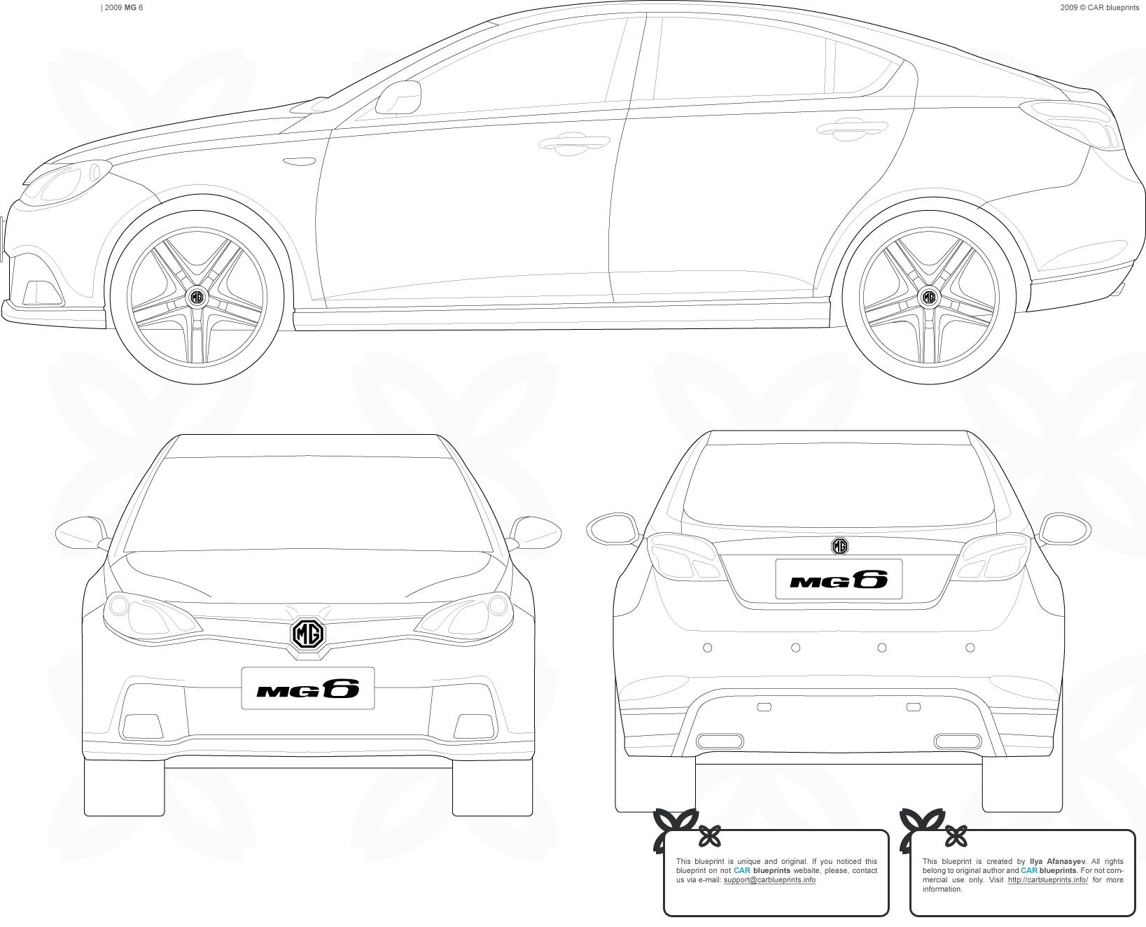 Mg 6 Sedan Blueprints Free