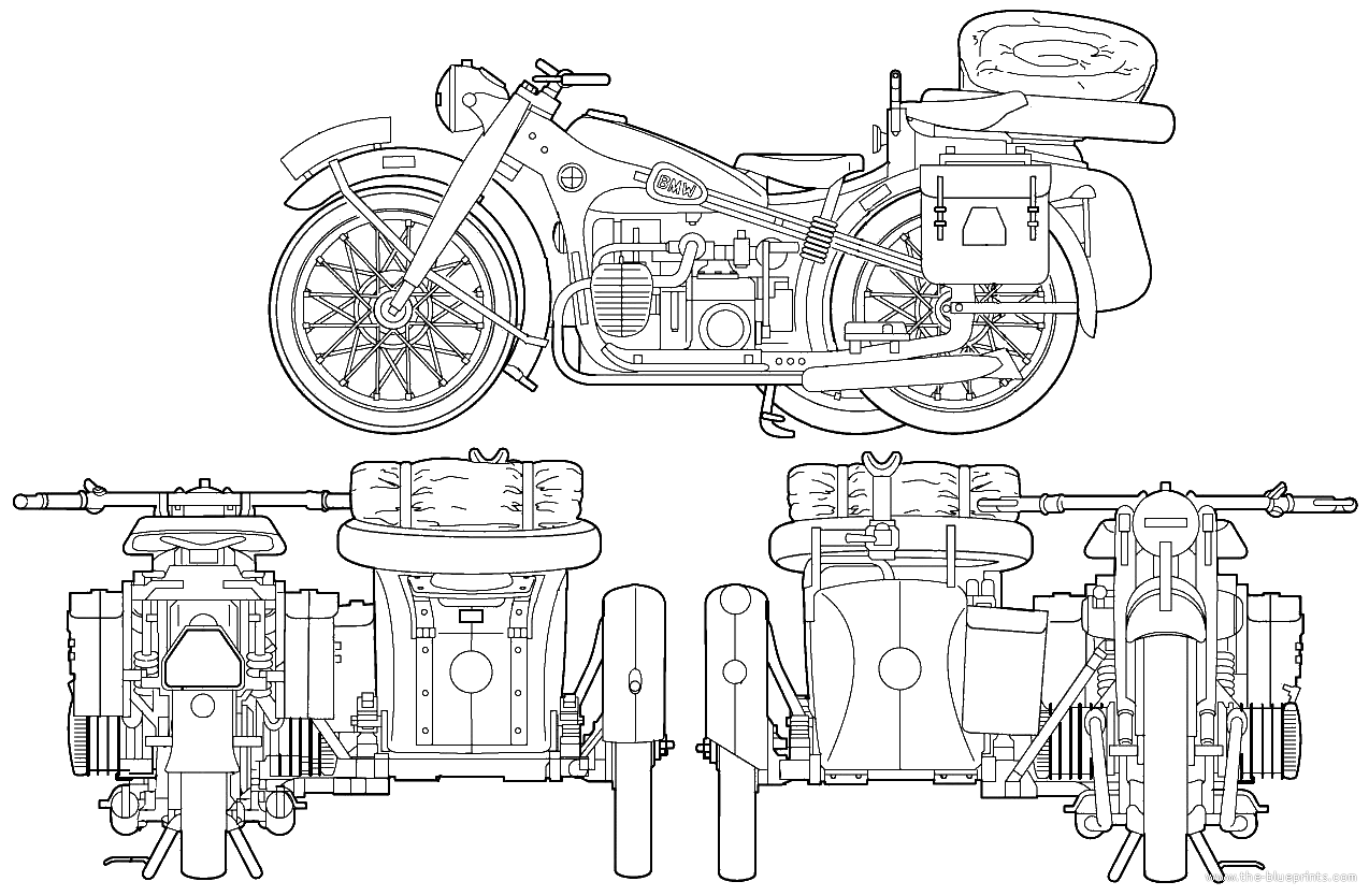 Bmw R12 Blueprints Free