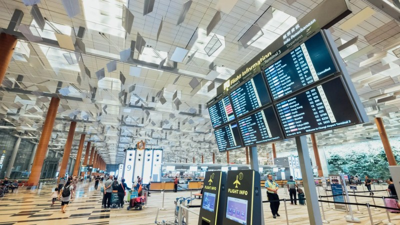 airport terminal flight board