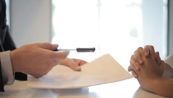 signing a business agreement