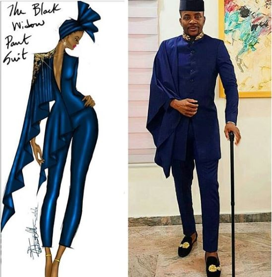 Bitch stole my look: Femle fashion illustrator calls out Ebuka for using her idea without giving her credit