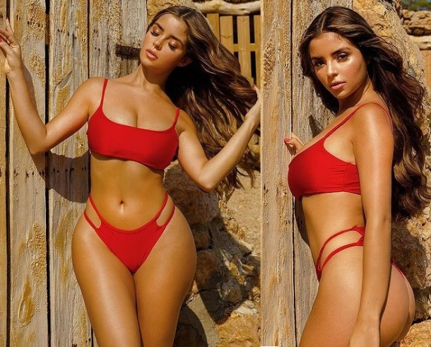 Demi Rose flaunts her enviable curves in sultry bikini photos