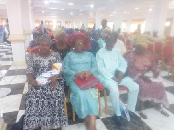 Photos: Mrs Ajibola Otubusin who became a mother at 67 holds naming ceremony for her son