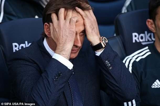 Breaking! Real Madrid sack manager Julen Lopetegui after humiliating 5 - 1 defeat to Barcelona