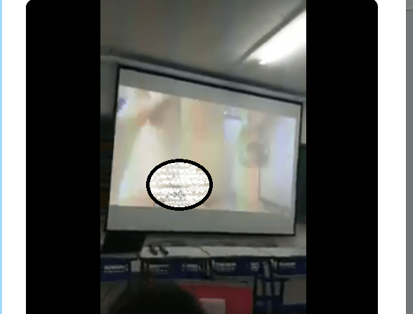 Video: University lecturer mistakenly plays hardcore porn in class during a presentation 18+