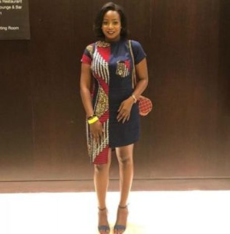 ankara gown with pocket