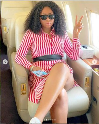 Regina Daniels has been allegedly flying in Ned Nwoko's private jet lailasnews 5