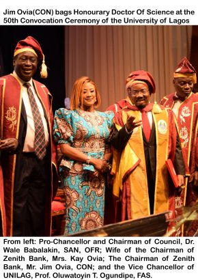 Fwd: PICTURE STORY - JIM OVIA BAGS HONOURARY DOCTORATE DEGREE