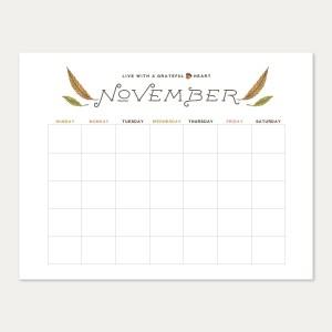 fall forest calendar