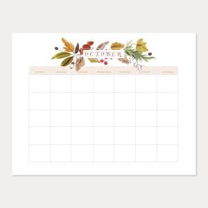 vintage fall calendar