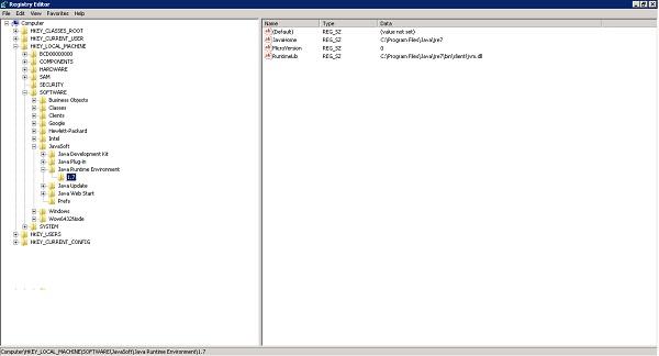 Java JRE 7 Download 32-64Bit