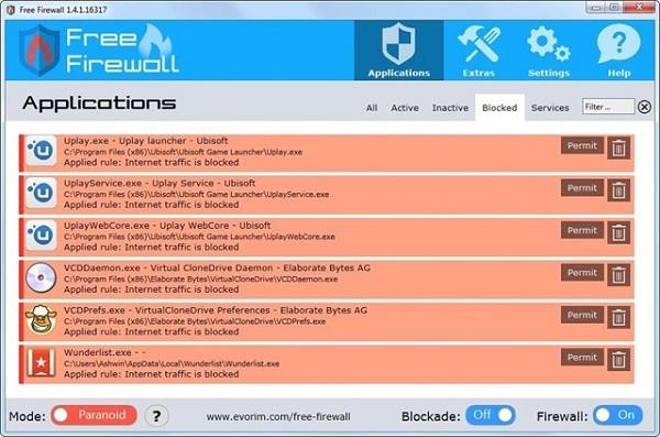 Evorim Free Firewall 2.2.1 Download 32-64 Bit