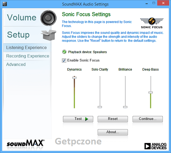 SoundMAX HD Audio Driver 6.10.02 download free