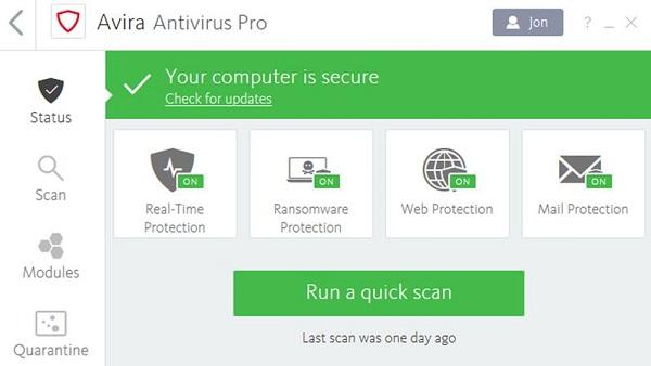 Avira Antivirus Pro 2019 Download