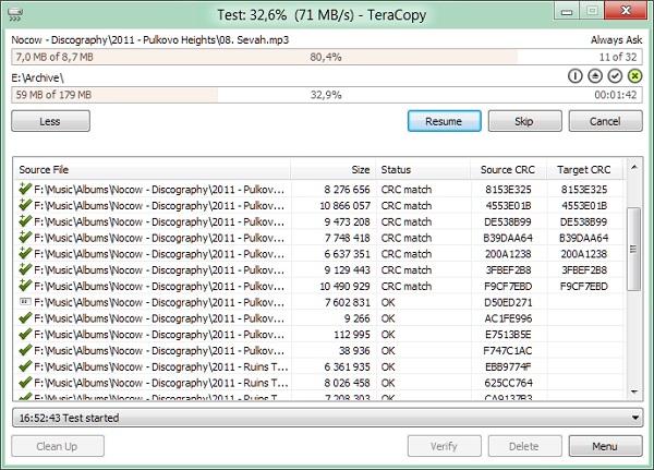 TeraCopy 3.26 Final Download 32-64 Bit
